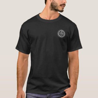 Jesuit Logo with Cross and Motto on the Back T-Shirt