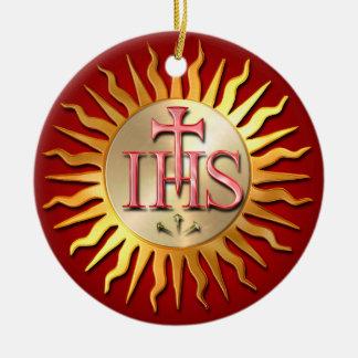 Jesuit Seal Ceramic Ornament