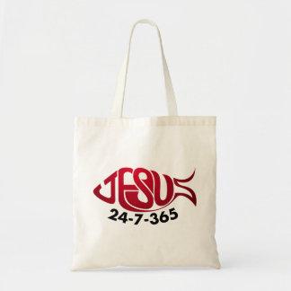 Jesus24-7-365 Canvas Bags
