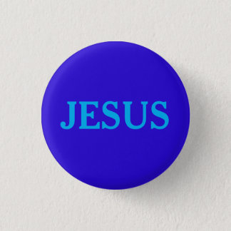 JESUS 1 INCH ROUND BUTTON