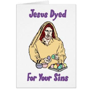 Jésus a teint pour vos péchés carte de vœux