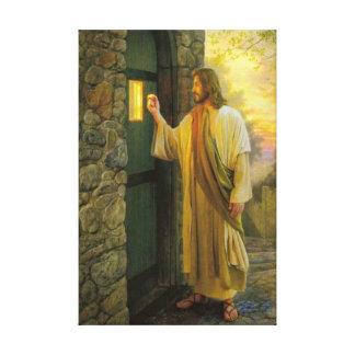 Jésus à votre toile enveloppée par porte toiles