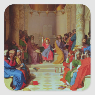 Jesus Among the Doctors, 1862 Square Sticker