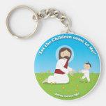 Jesus and Child Keychain