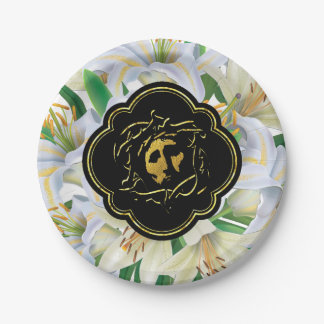 Jesus and Crown of Thorns Paper Plate