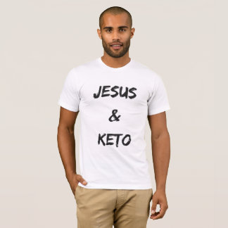 Jesus and Keto Men's Graphic T T-Shirt