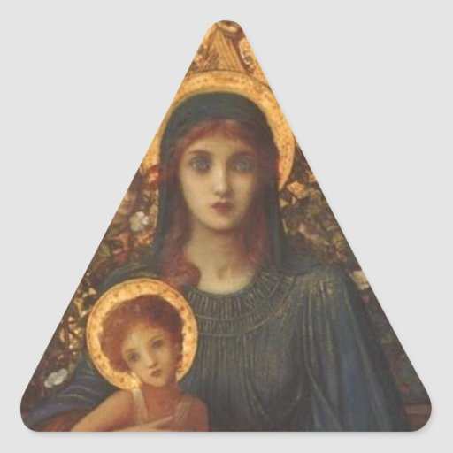 JESUS AND MARY TRIANGLE STICKERS
