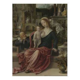 Jesus and Mother Mary Breastfeeding Postcard