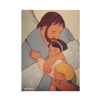 JESUS AND THE CHILDREN CANVAS PRINT