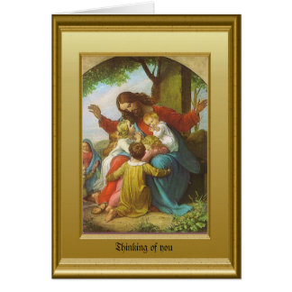Jesus and the children card