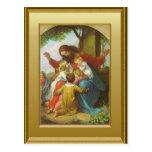 Jesus and the children postcard