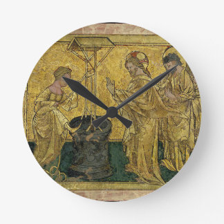 Jesus and the Samaritan Woman at the Well Round Clock
