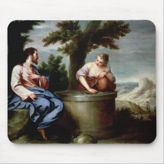 Jesus and the Samaritan Woman Mouse Pad