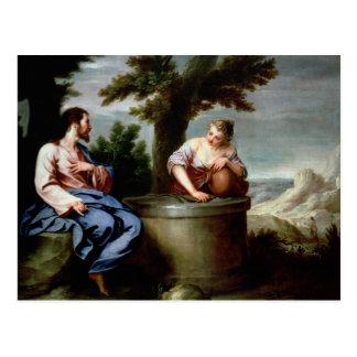 Jesus and the Samaritan Woman Postcard