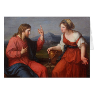 Jesus and the Woman at the Well Card