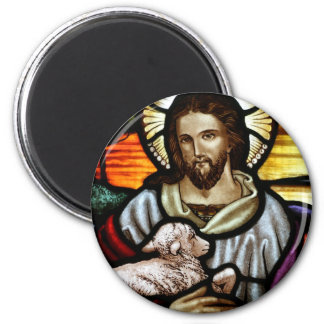 Jesus as The Good Shepherd Portrait Magnet