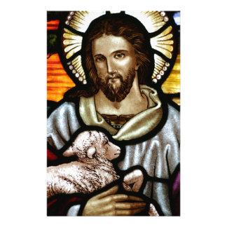 Jesus as The Good Shepherd Portrait Personalized Stationery