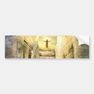 Jesus at Empty Tomb Easter Resurrection Bumper Sticker