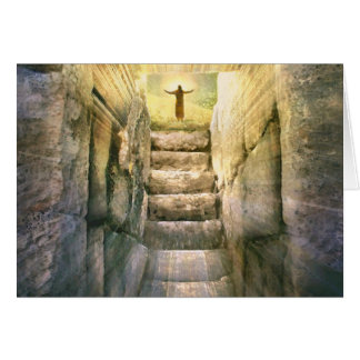 Jesus at Empty Tomb Easter Resurrection Card