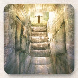 Jesus at Empty Tomb Easter Resurrection Coaster