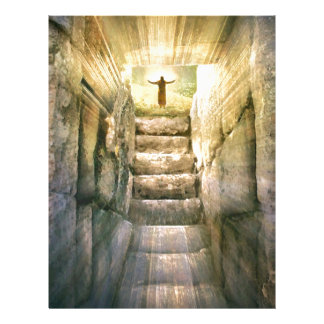 Jesus at Empty Tomb Easter Resurrection Letterhead
