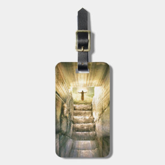 Jesus at Empty Tomb Easter Resurrection Luggage Tag