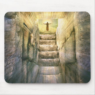 Jesus at Empty Tomb Easter Resurrection Mouse Pad