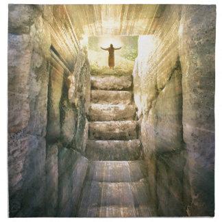 Jesus at Empty Tomb Easter Resurrection Napkin