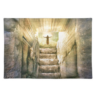 Jesus at Empty Tomb Easter Resurrection Placemat