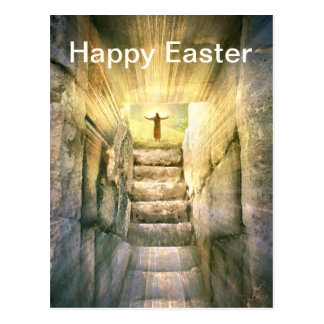 Jesus at Empty Tomb Easter Resurrection Postcard