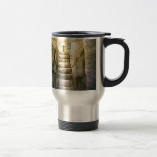 Jesus at Empty Tomb Easter Resurrection Travel Mug