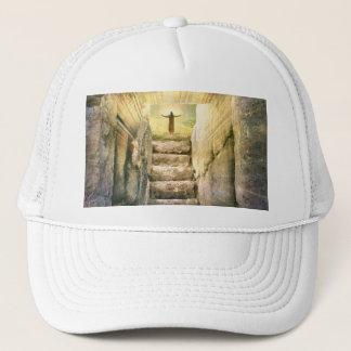 Jesus at Empty Tomb Easter Resurrection Trucker Hat