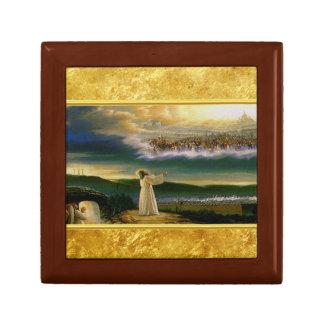 Jesus at Heaven's Gate Gold Texture Design Gift Box