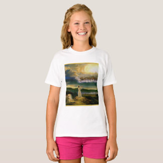 Jesus at Heaven's Gate Gold Texture Design T-Shirt