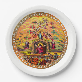 Jesus at Heaven's Gate Paper Plate