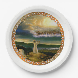 Jesus at Heaven's Gate Vintage design Paper Plate
