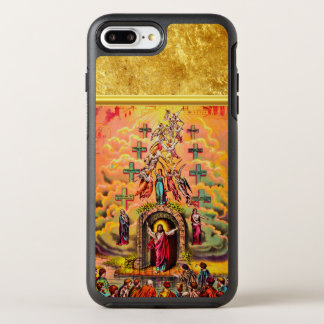 Jesus at Heaven's Gate with a gold foil texture OtterBox Symmetry iPhone 8 Plus/7 Plus Case