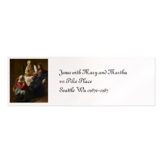 Jesus at Mary and Martha's Home Business Cards
