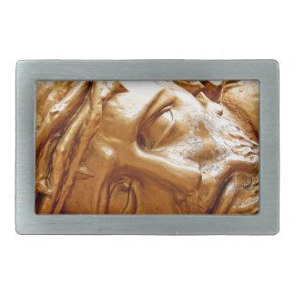 Jesus at rest rectangular belt buckle