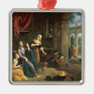 Jesus at the Home of Martha and Mary Metal Ornament