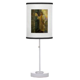 Jesus At Your Door Vintage Table Lamp