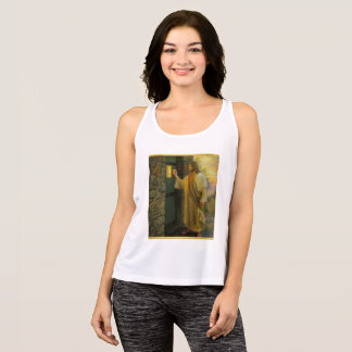 Jesus At Your Door with a gold foil design Tank Top