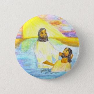Jesus' Baptism 2 Inch Round Button