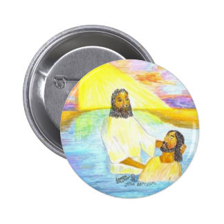 Jesus Baptism Pinback Button