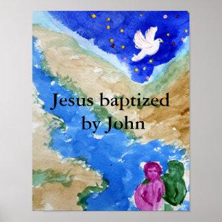 Jesus baptism poster