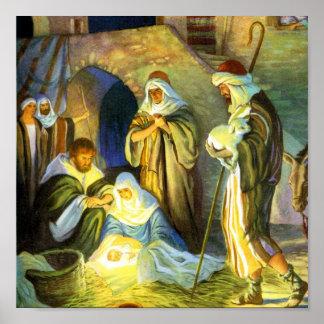 Jesus Birth Poster 15x15