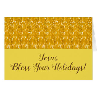 Jesus bless your Holidays Card