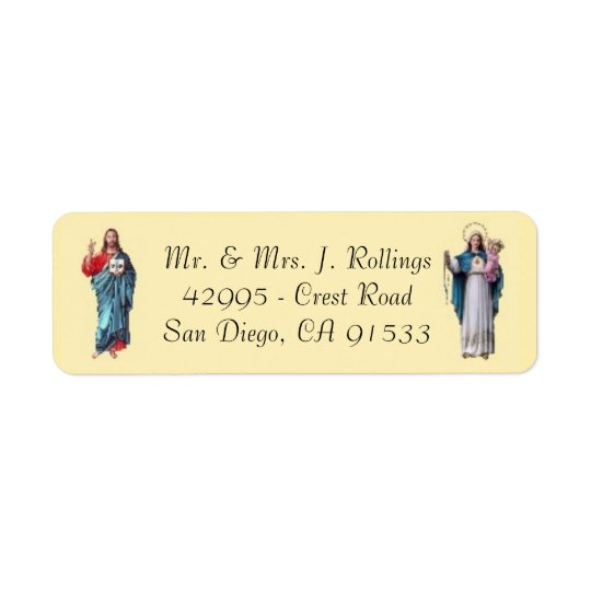 Jesus & Blessed Virgin Mary  Return Address Labels