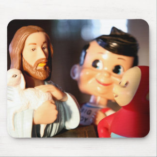 Jesus, Bob and the Telly Yubby Mouse Pad