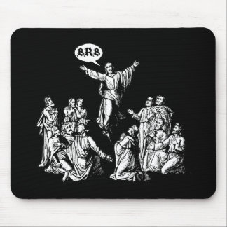 Jesus BRB lol shirt Mouse Pad